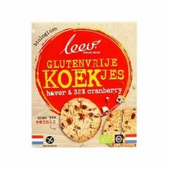 Leev Bio haver & cranberry koekjes glutenvrij (120 gram)