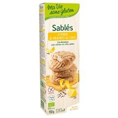 Ma Vie Sans Koekjes met citroen chia zaden bio - glutenvrij (150 gram)