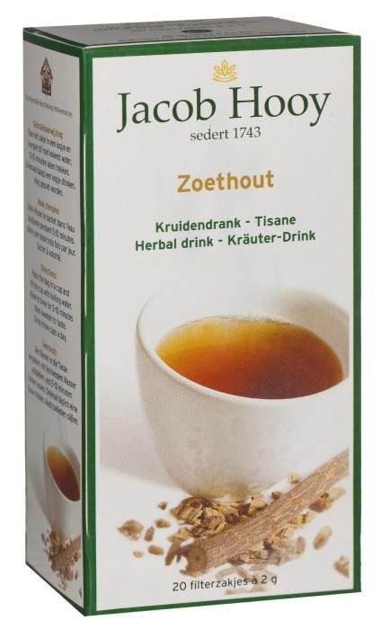 Jacob Hooy Jacob Hooy Zoethout thee (20 zakjes)