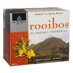 Jacob Hooy Rooibosthee sakkies (80 zakjes)