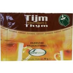 Soria Tijm tomillo thee (20 zakjes)