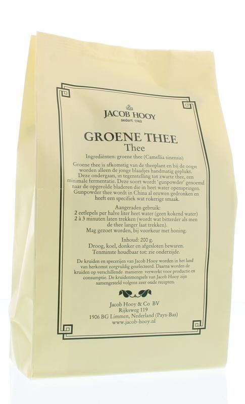 Jacob Hooy Jacob Hooy Groene thee (geel zakje) (200 gram)