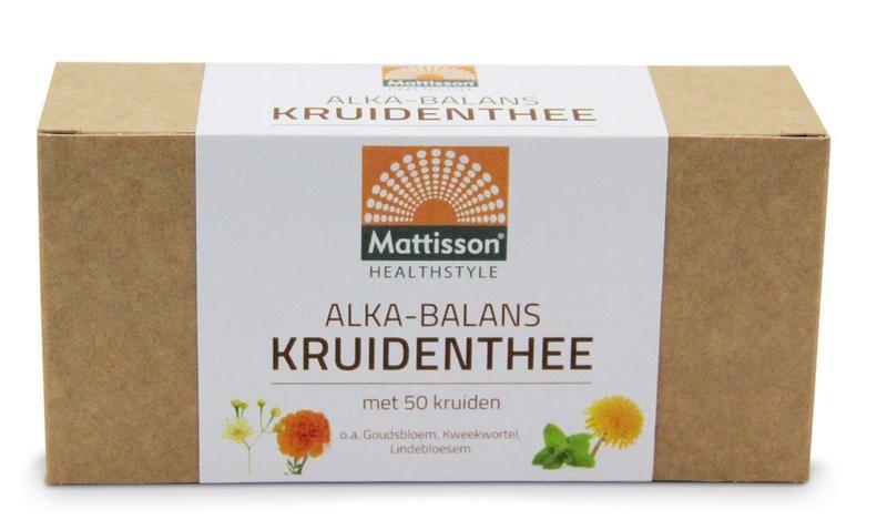 Mattisson Mattisson Alkabalans zuur base kruidenthee (25 zakjes)