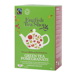 English Tea Shop Green tea pomegranate (20 zakjes)