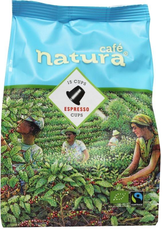 Cafe Natura Cafe Natura Espresso koffiecap (15 stuks)