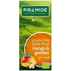 Piramide Groene thee mango en gember (20 stuks)