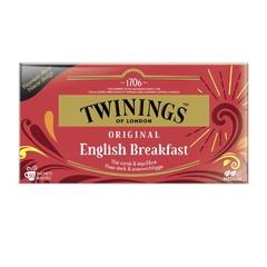 Twinings English breakfast envelop zwart (50 stuks)