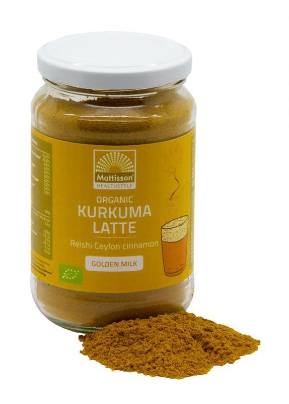 Mattisson Latte kurkuma goldenmilk reishi - ceylon kaneel (160 gram)