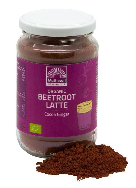Mattisson Mattisson Latte beetroot gember - cacao bio (160 gram)