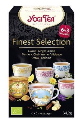 Yogi Tea Finest selection 3 x 6 stuks (18 zakjes)
