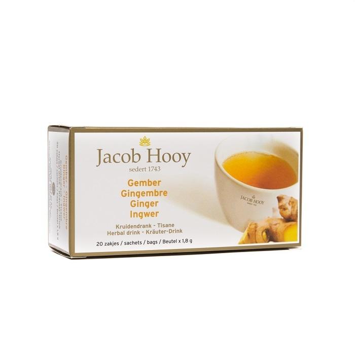 Jacob Hooy Jacob Hooy Gember theezakjes gold (20 zakjes)