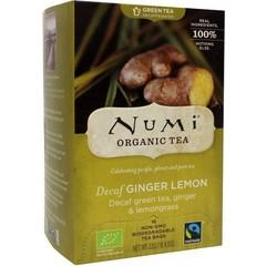 Numi Green tea ginger lemon (16 zakjes)