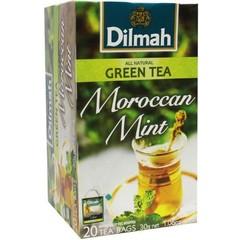 Dilmah All natural green tea Moroccan mint (20 zakjes)