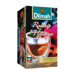 Dilmah Rozenbottels & hibiscus infusion (20 zakjes)