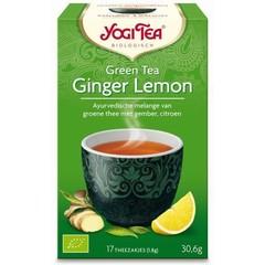 Yogi Tea Green tea ginger lemon (17 zakjes)