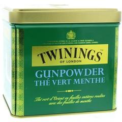 Twinings Gunpowder blik mint (200 gram)