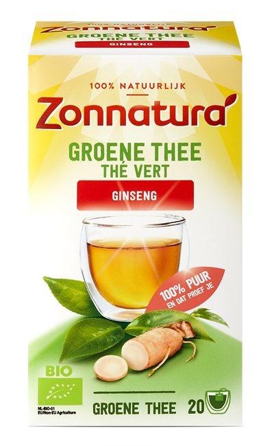 Zonnatura Zonnatura Groene thee ginseng bio (20 zakjes)