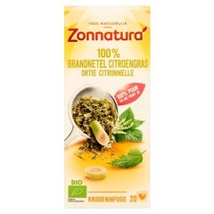 Zonnatura Brandnetel citroengras bio (20 zakjes)