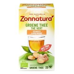 Zonnatura Groene thee gember bio (20 zakjes)