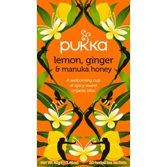 Pukka Org. Teas Lemon ginger manuka honey (20 zakjes)