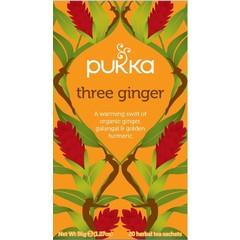 Pukka Org. Teas Three ginger (20 zakjes)