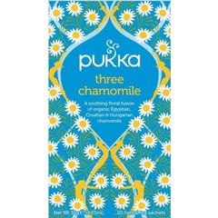 Pukka Org. Teas Three chamomile (20 zakjes)