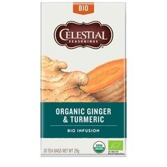 Celestial Season Organic ginger & turmeric (20 stuks)