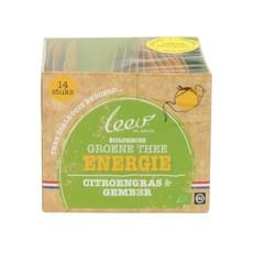 Leev Bio groene thee energie citroen & gember (14 zakjes)