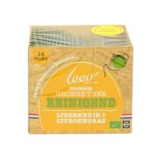 Leev Bio groene thee reinigend ijzerkruid & citroengras (14 zakjes)