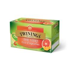 Twinings Groene thee citrusduo pompelmoes mandarijn (20 zakjes)