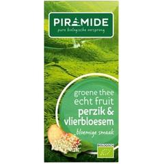 Piramide Groene thee perzik vlierbloesem (20 zakjes)