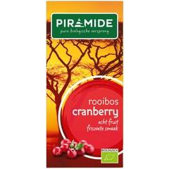 Piramide Cranberry rooibos bio thee (20 zakjes)