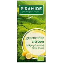 Piramide Groene thee met citroen eko (20 zakjes)