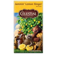 Celestial Season Jammin' lemon ginger tea (20 zakjes)