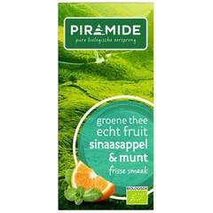 Piramide Sinaasappel met munt groene thee (20 zakjes)
