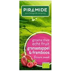 Piramide Groene thee granaatappel framboos (20 zakjes)