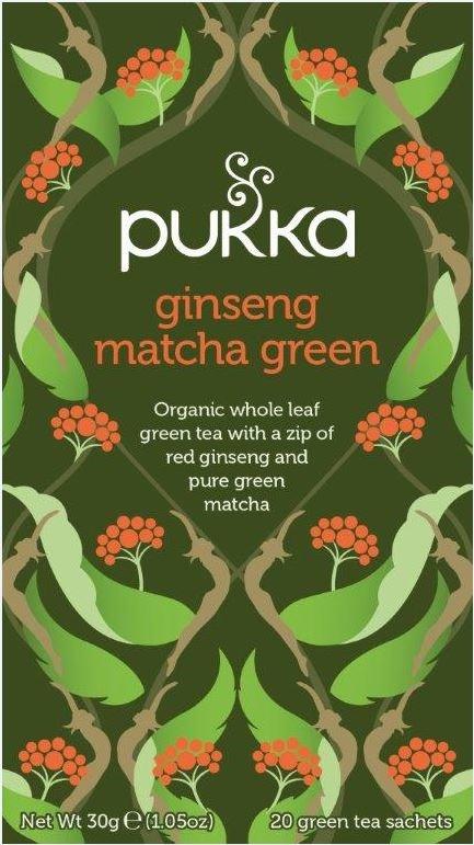 Pukka Org. Teas Pukka Org. Teas Ginseng matcha green (20 zakjes)
