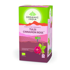 Organic India Tulsi cinnamon rose thee bio (25 zakjes)