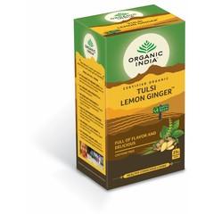 Organic India Tulsi lemon ginger thee bio (25 zakjes)