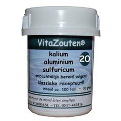 Vitazouten Kalium aluminium sulfuricum VitaZout Nr. 20 (120 tabletten)