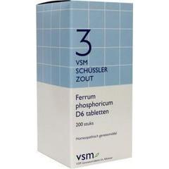 VSM Ferrum phosphoricum D6 schussler 3 (200 tabletten)