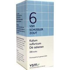VSM Kalium sulfuricum D6 schussler 6 (200 tabletten)