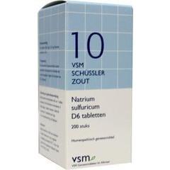 VSM Natrium sulfuricum D6 Schussler 10 (200 tabletten)