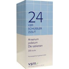 VSM Arsenum jodatum D6 Schussler 24 (200 tabletten)