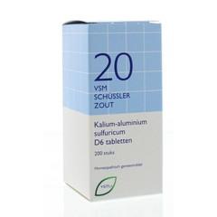 VSM Kalium aluminium sulfuricum D6 Schussler 20 (200 tabletten)