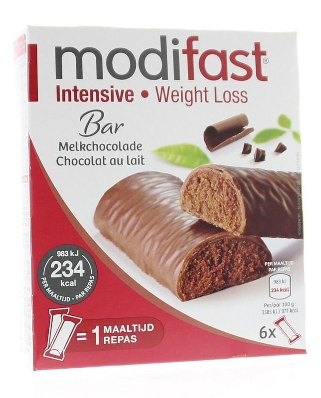 Modifast Modifast Snack & meal lunchreep melkchocolade 6 x 31 gram (1 stuks)