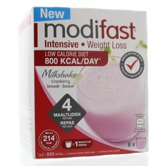 Modifast Intensive milkshake cranberry (440 gram)