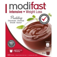 Modifast Intensive pudding chocolade 8 zakjes (440 gram)