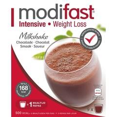 Modifast Intensive milkshake chocolade 8 zakjes (440 gram)