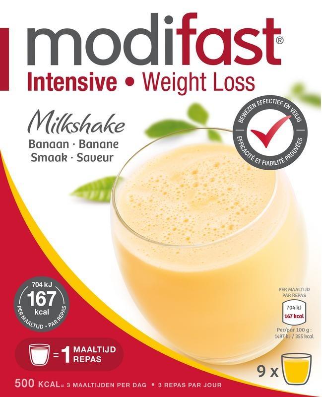 Modifast Modifast Intensive milkshake banaan 8 zakjes (440 gram)